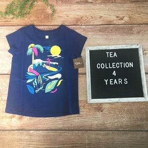 Tea Collection Wave Rider Tee NWT 4T Navy